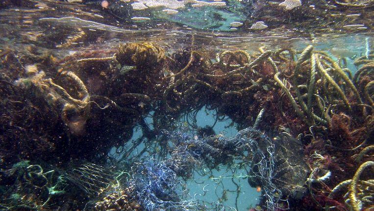 De plastic soep in de Stille Oceaan. Beeld