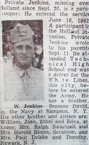 Het lot van Willard Jenkins werd in een plaatselijke krant in Pennsylvania gemeld.