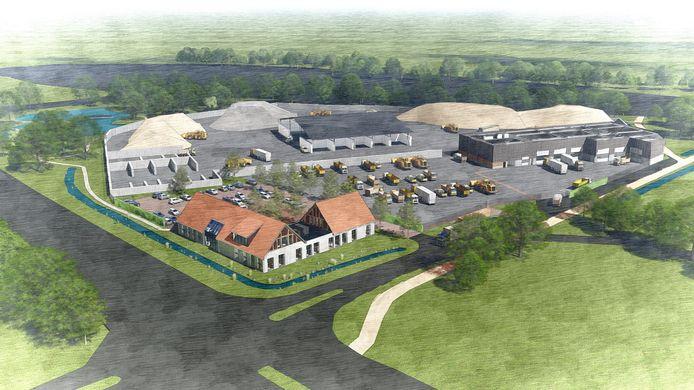 Het vernieuwde complex van Dusseldorp in Borne.