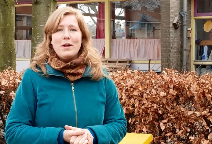 Juf Nina Verkaart van klas 5 van Zilverlinde in Roosendaal
