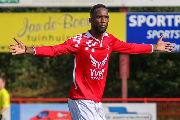 Yannis Ngola scoorde tijdens zijn invalbeurt de 3-2 voor Alverna. Archieffoto.