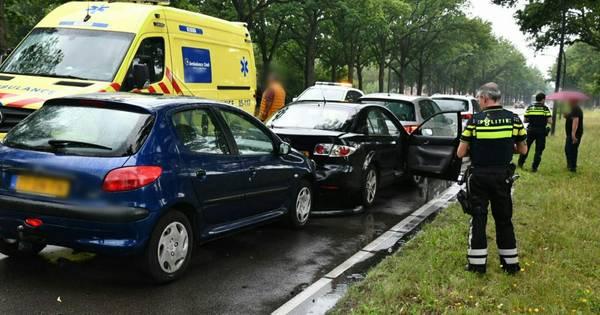 Opnieuw kettingbotsing Gronausestraat in Enschede: één gewonde.