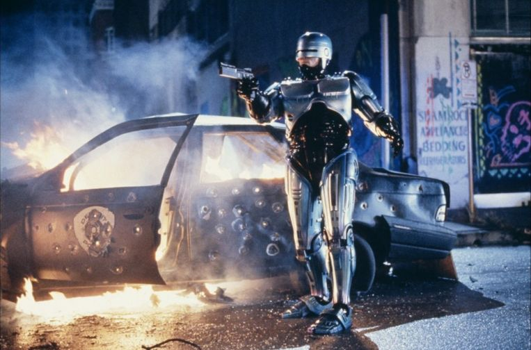 Peter Weller in RoboCop. Beeld
