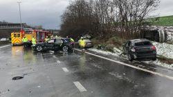 E314 richting Lummen ter hoogte van Winksele weer vrij: 1 zwaargewonde, 3 lichtgewonden