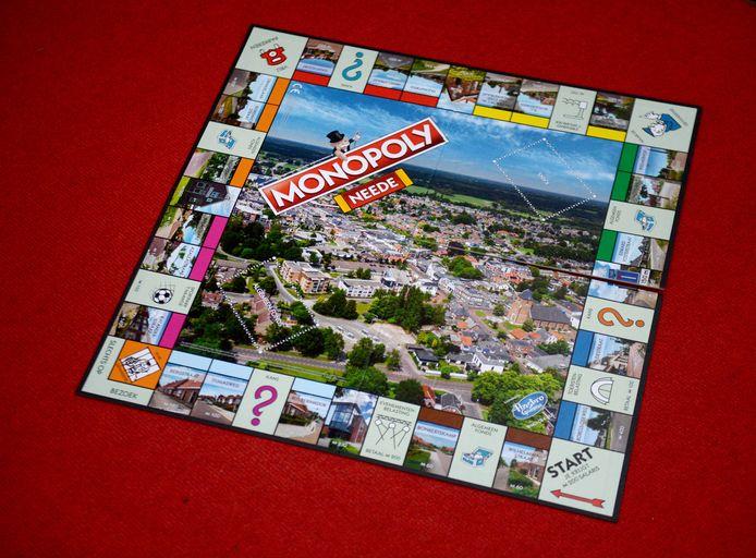 Het spelbord van de Needse Monopoly-uitvoering.
