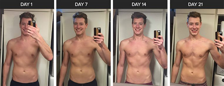 De indrukwekkende transformatie die Nick in 21 dagen doormaakte.
