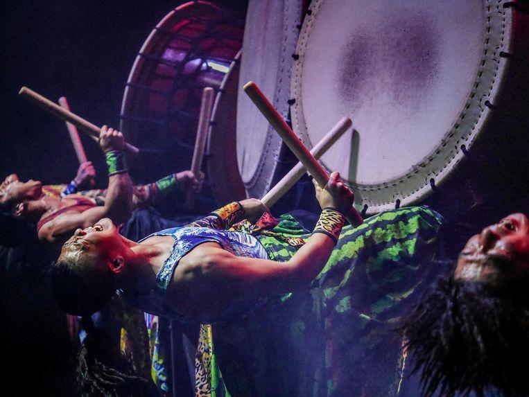 De drummers van Yamato geven alles. Beeld Eliza Wiley