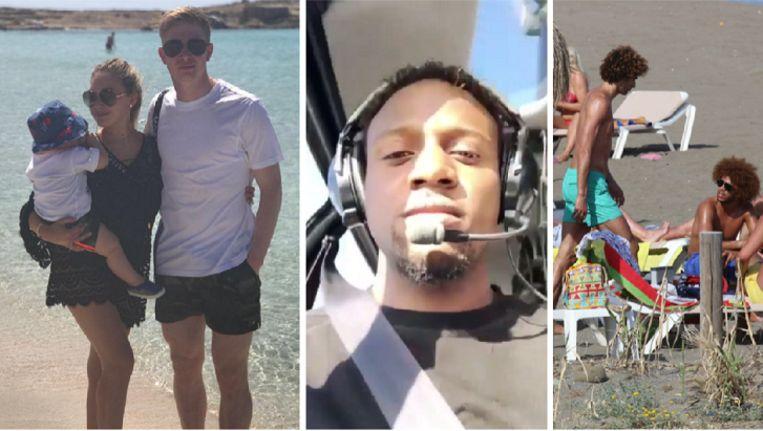 De Bruyne trok met zijn familie naar Ibiza, Origi koos voor een helikoptervlucht en Fellaini zocht de zon op in Marbella.