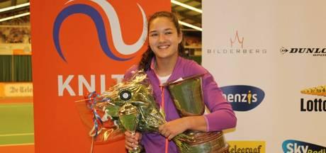 Merel Hoedt uit Best is Nederlands kampioen indoor tennis