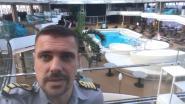 """Vlaamse kapitein op verlaten cruiseschip: """"Situatie begint zwaar te wegen"""""""