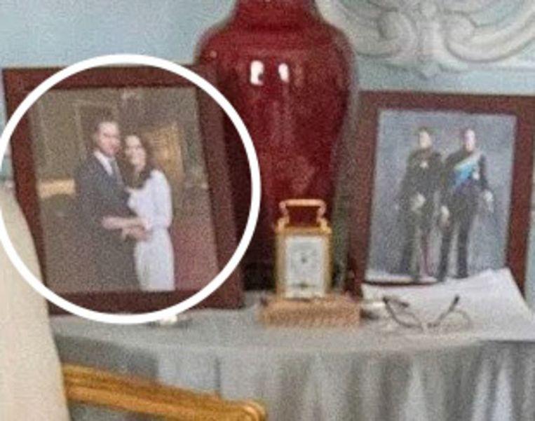Nu is het portret van Meghan en Harry nergens meer te bespeuren.