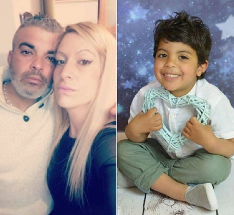 Tahar Mejri met echtgenote Olfa en hun zoontje Kylan