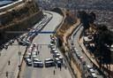 Wegblokkades in El Alto bij de Boliviaanse hoofdstad La Paz.
