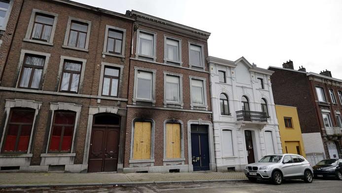 Het huis van de terroristen in Verviers