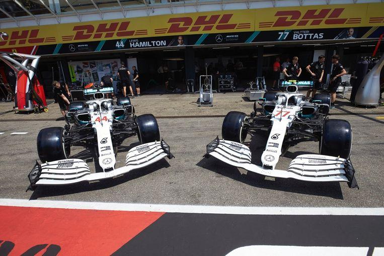 De speciale look van Mercedes voor zijn thuisrace.