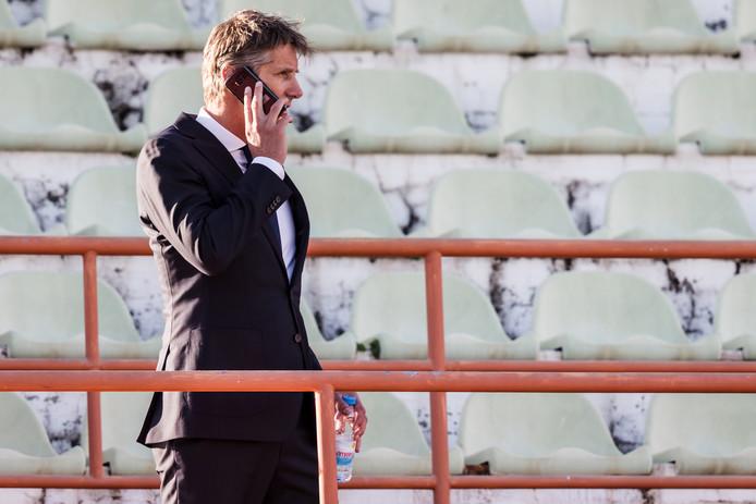 Edwin van der Sar tijdens het trainingskamp van Ajax in Lagos.