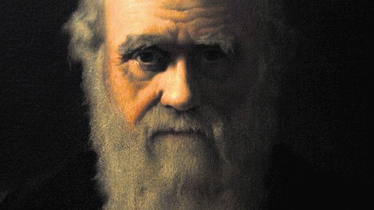 Charles Darwin. Deel van een schilderij dat de Brit John Collier in 1883 maakte, een jaar na de dood van de beroemde bioloog. (Trouw) Beeld EPA