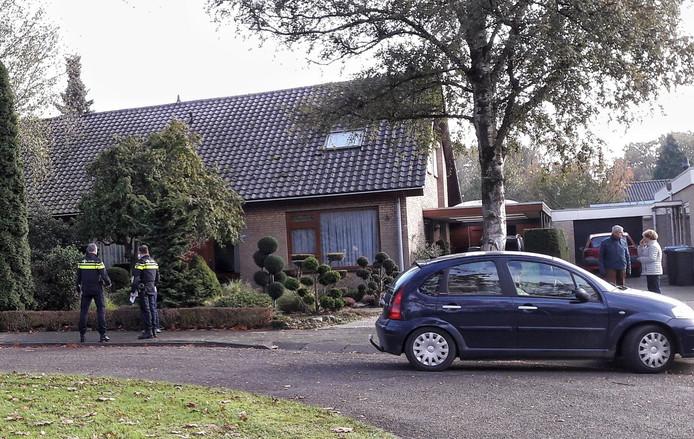 De politie deed een dag na de woningoverval, op 3 november, buurtonderzoek in Malden.
