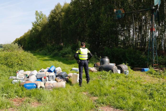 Drugsdumping in de omgeving van Son.