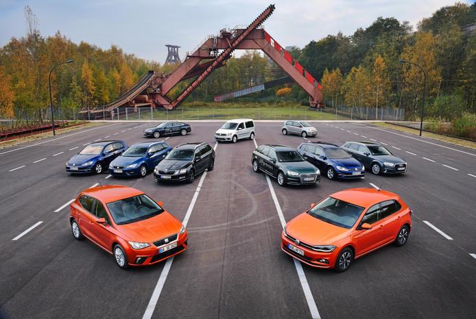 Het Volkswagen-concern brengt de meeste automodellen op de markt die op aardgas rijden.