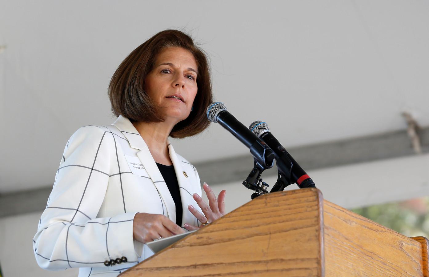 De Democratische senator Catherine Cortez Masto op archiefbeeld.