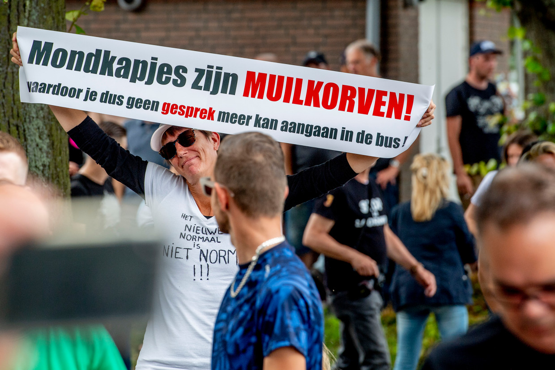 Demonstranten in Nederland afgelopen weekend Beeld ROBIN UTRECHT/Belga