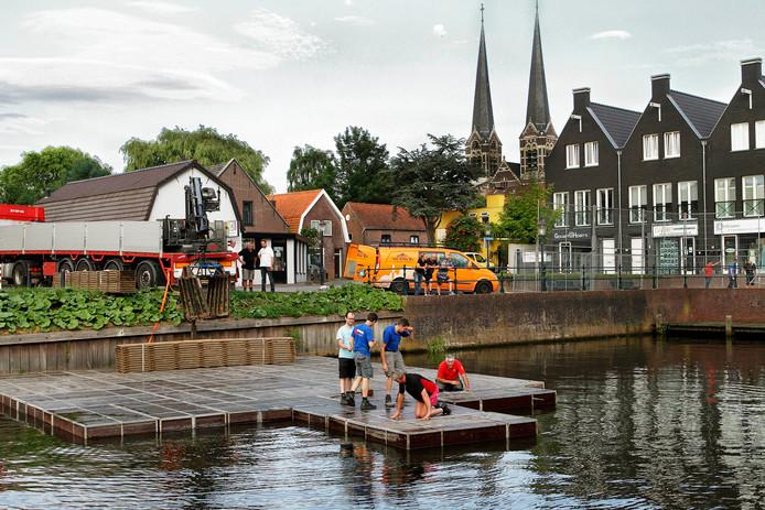 Vorig jaar werd het festival voor het eerst op het water gehouden. Met veel succes.