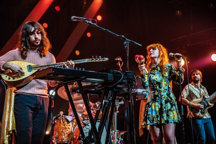 De Turks-Nederlandse band Altin Gün tijdens hun optreden op Eurosonic Noorderslag (ESNS) 2020. De band is één van de hoofdacts tijdens 'Hedon presenteert Gerrits Tuin'.