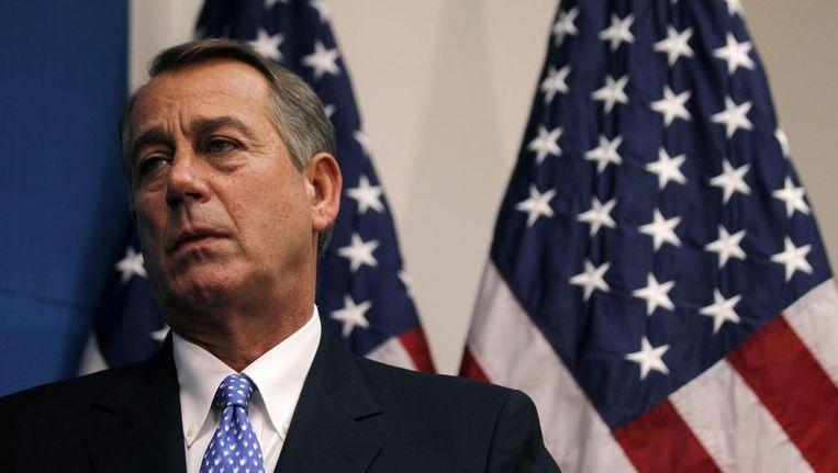 De Republikeinse voorzitter van het Huis van Afgevaardigden John Boehner Beeld reuters