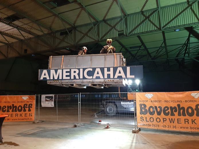 De naam Americahal is over anderhalf jaar ergens in Zwolle te zien.