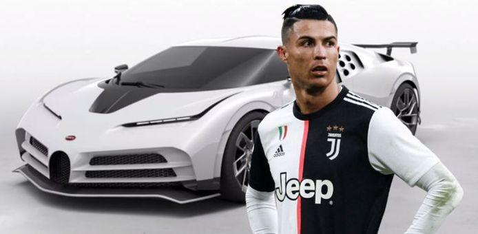 Cristiano Ronaldo zou onder meer 9,5 miljoen euro betaald hebben voor een Bugatti Centodieci, waarvan er slechts tien zijn gemaakt.