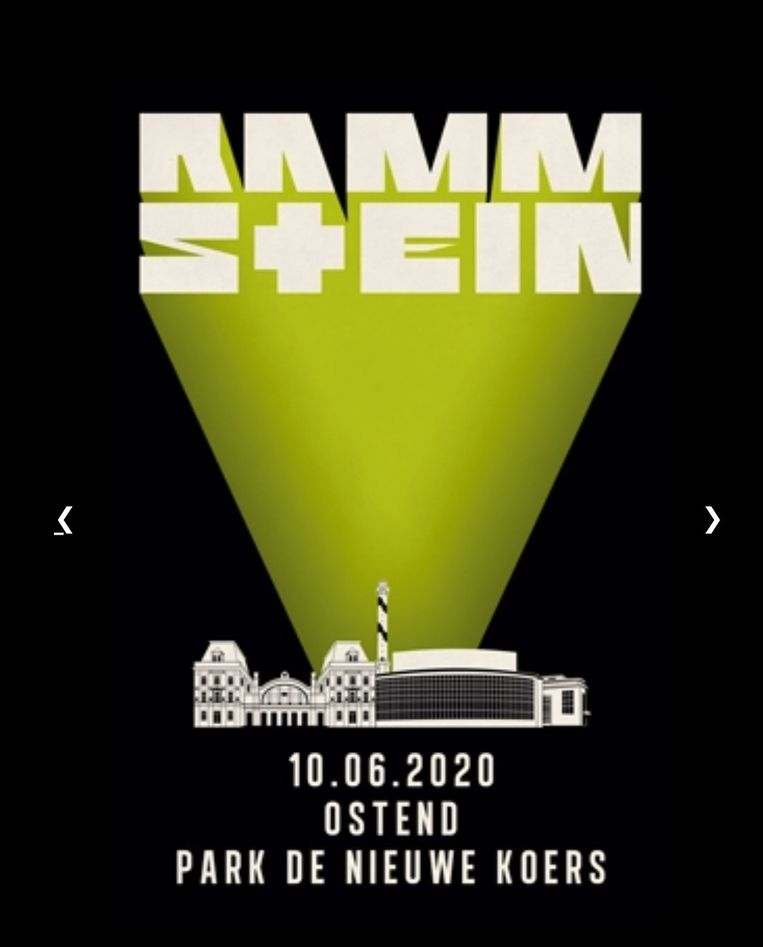 rammstein maakt de datum van hun concert in Oostende bekend