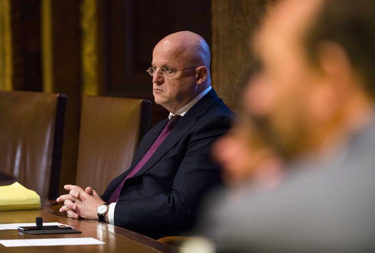 Minister Grapperhaus in de Eerste Kamer. Beeld anp