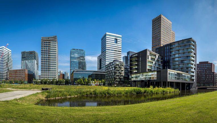 Het zakencentrum van Amsterdam de Zuidas, waar het EU-geneesmiddelenbureau een kantoor aangeboden krijgt. Beeld anp