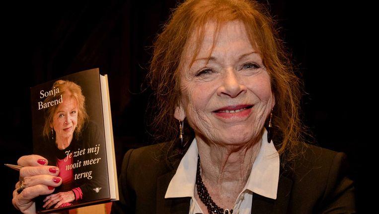Sonja Barend bij boekpresentatie van Je ziet mij nooit meer terug. Beeld anp