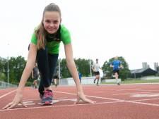 Jasmijn Lamberink (13) uit Hardenberg loopt hard voor goud