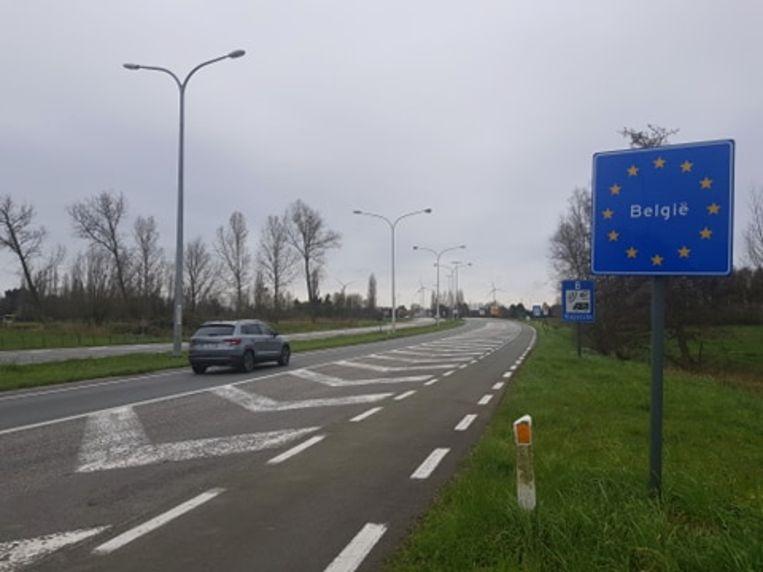 Voorlopig geen grenscontroles te zien op de grens tussen Zelzate en Nederland.
