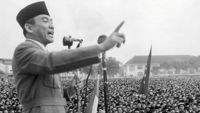 Sukarno, de eerste president van de Republiek Indonesië, in 1945.