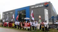 VIDEO: Protest aan poort van grootste Belgische slachterij