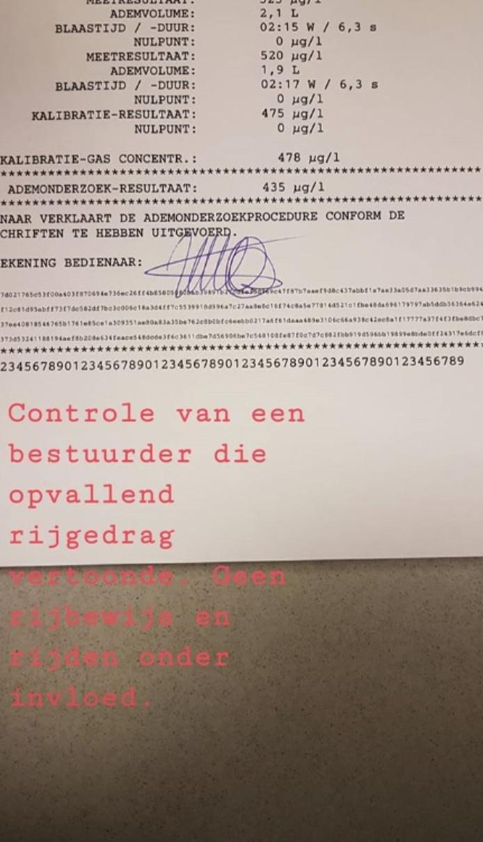 Bestuurder onder invloed Dordrecht.