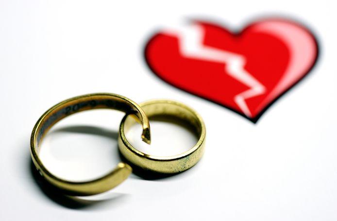 Als de liefde voorbij is gaan veel stellen scheiden.