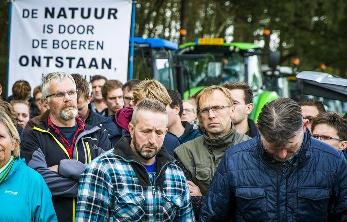 Boeren hebben vandaag ook in Winterswijk geprotesteerd tegen de nieuwe stikstofmaatregelen.