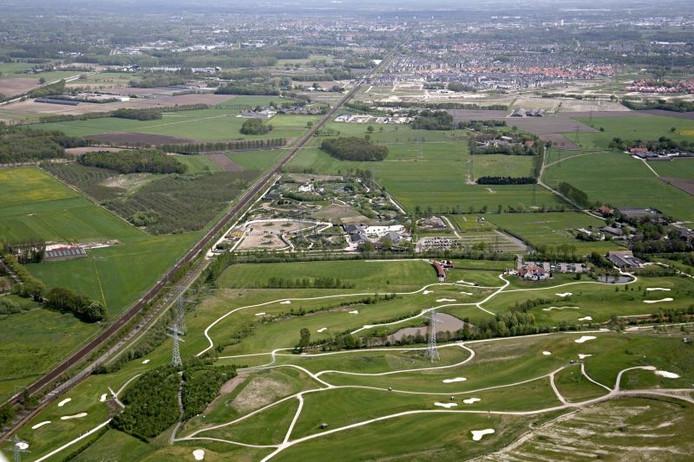 Landgoed Gulbergen tussen Nuenen en Mierlo gezien vanuit de lucht. foto Ronald Otter