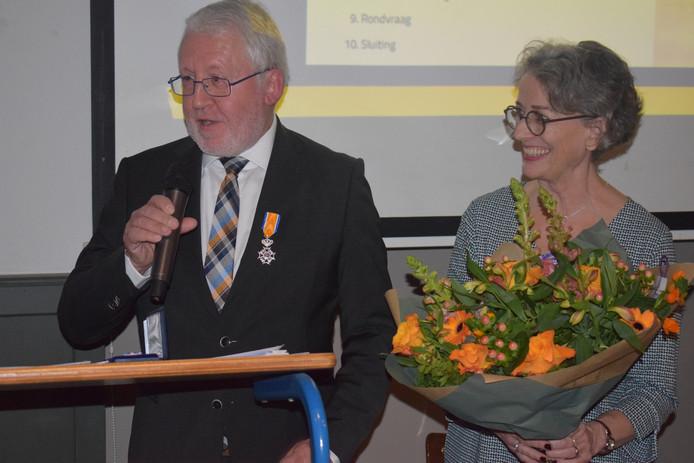Jacques van Heijst spreekt zijn dankwoord uit.