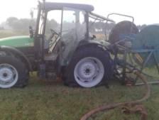 Tractor van boer Beneden-Leeuwen vernield