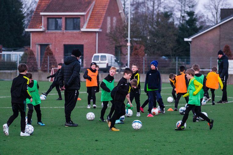 Dit archiefbeeld werd in januari 2018 gemaakt op het jeugdvoetbalcomplex in Kessel.