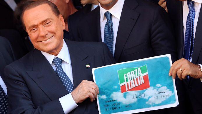 Silvio Berlusconi vandaag in Rome.