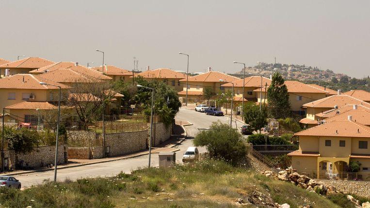 Israëlische nederzetting op de Westelijke Jordaanoever. Beeld AFP