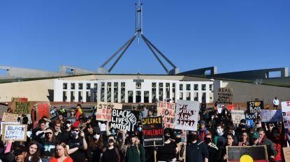 Betoging in Australische hoofdstad Canberra tegen discriminatie van Aboriginals