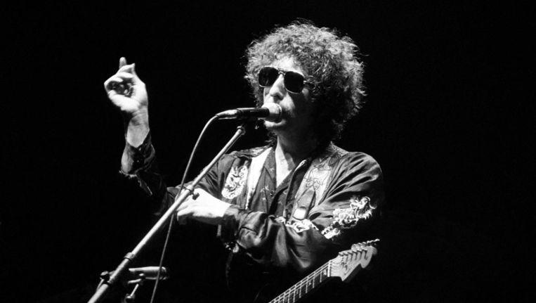 Bob Dylan tijdens een concert in Engeland in juli 1981. Beeld Keithe Baugh / Redferns